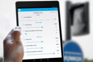Démonstration de l'application blueEo de paramétrage sur support tablette Nexus9