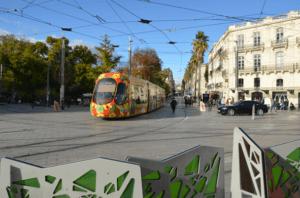 Tramway de Montpellier en circulation
