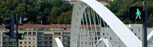 pont lyonnais, feux tricolores et phase verte