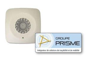 Balise sonore et logo Prisme