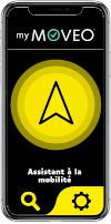Logo jaune et noir My Moveo smartphone