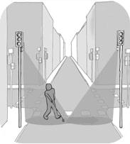 Illustration du fonctionnement d'un couloir sonore